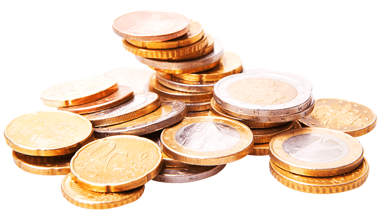 Pile of coins png. Stack euro transparent stickpng