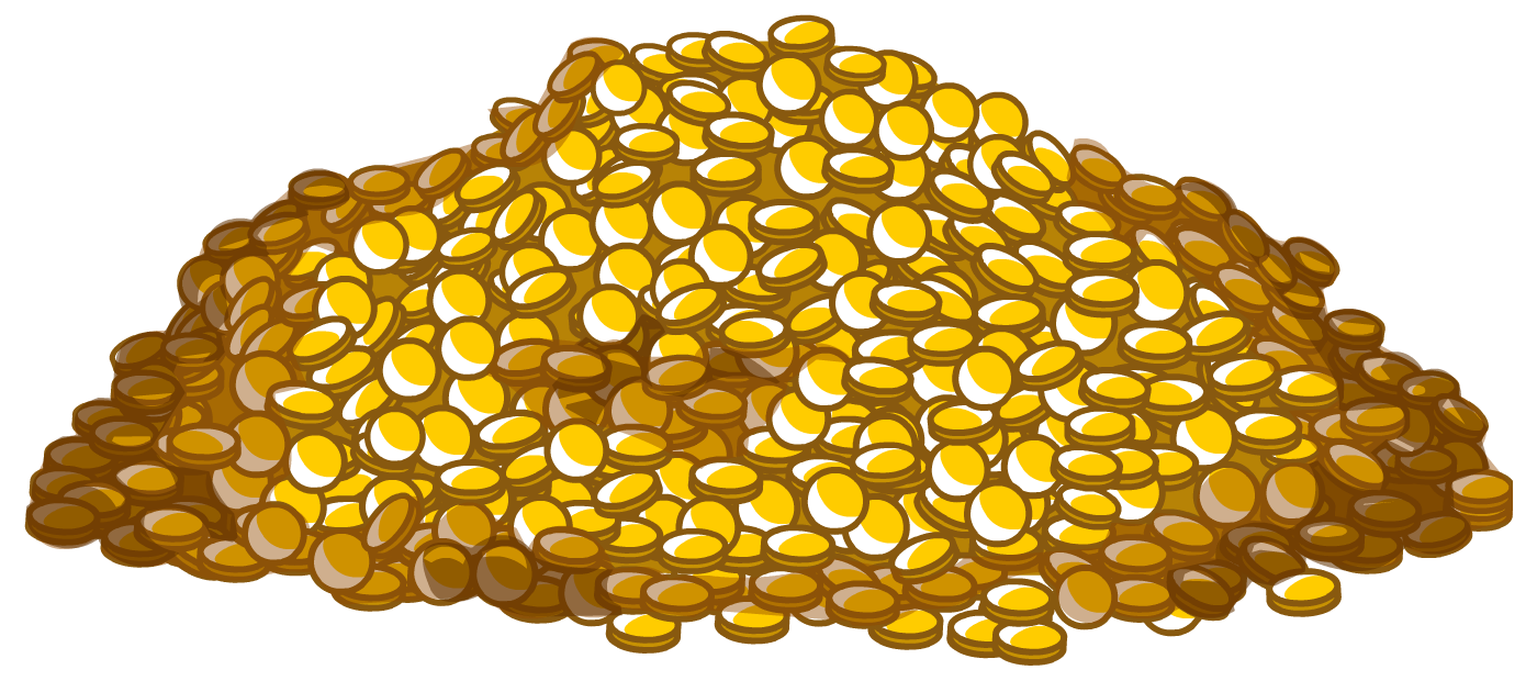 Pile of gold coins png. Image club penguin wiki