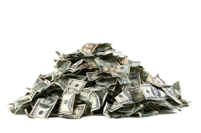 Pile of money png. Work from home moneypile
