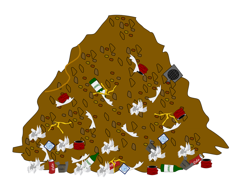Piles of garbage png. Collection waste clipart