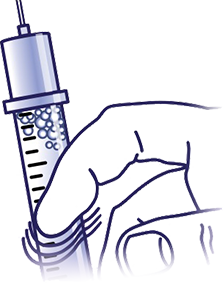 Drawing bottles diabetes. Insulin injection sites dosage