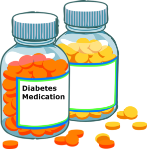 Drawing bottles diabetes. Type an overview and