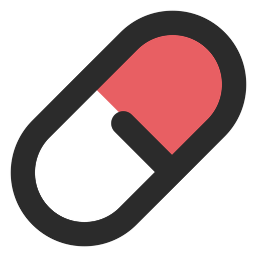 Transparent pill. Medical colored stroke icon