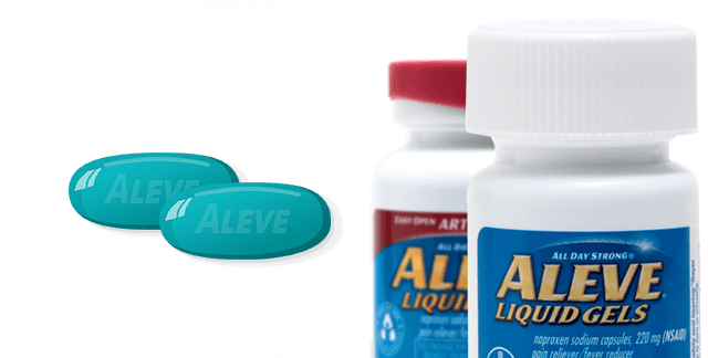 Pill transparent gel. The aleve difference hour