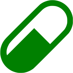 Pill transparent green. Icon free health icons