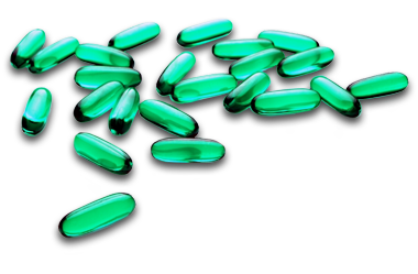 Pill transparent green. About our medical records