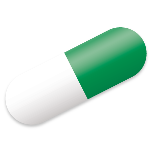 Pill transparent green. Oral flea medication for