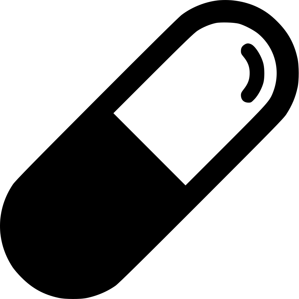 Pill transparent icon. Medical svg png free