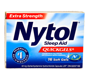 Pill transparent sleeping. Nytol sleep aid extra