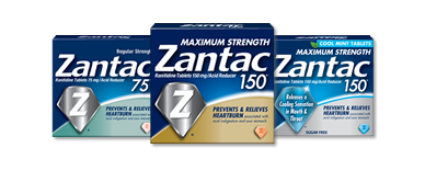 Pill transparent zantac. Heartburn relief products ranitidine