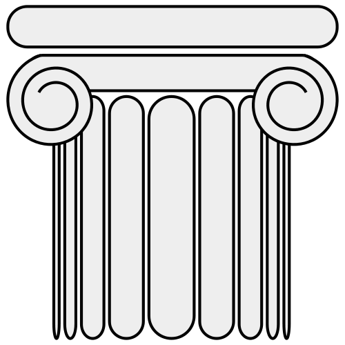 Pillar drawing. Collection of greek