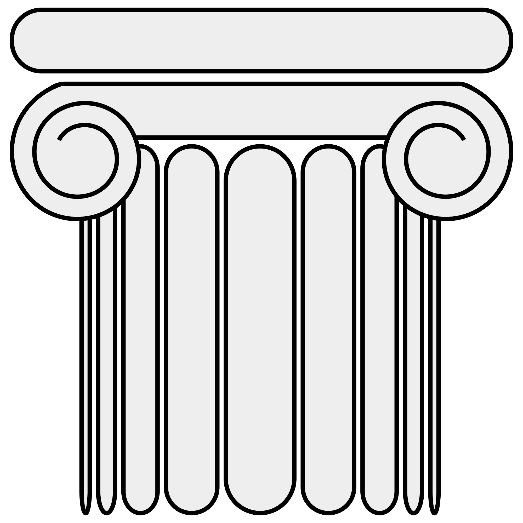 Pillar drawing column. File ionic svg wikimedia