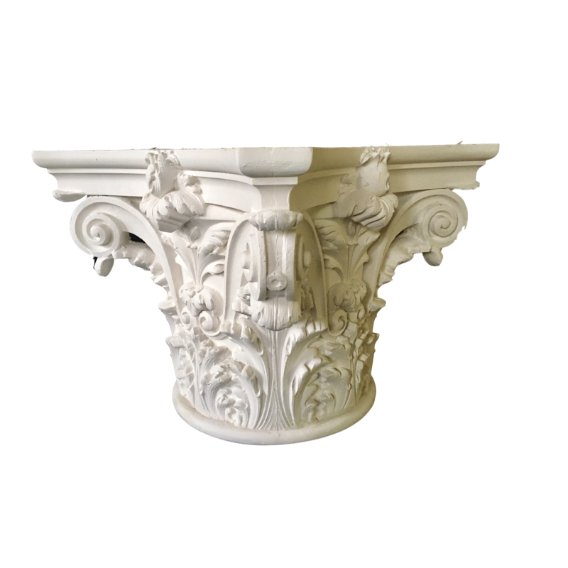 Pillar transparent renaissance. Column capitals for wood