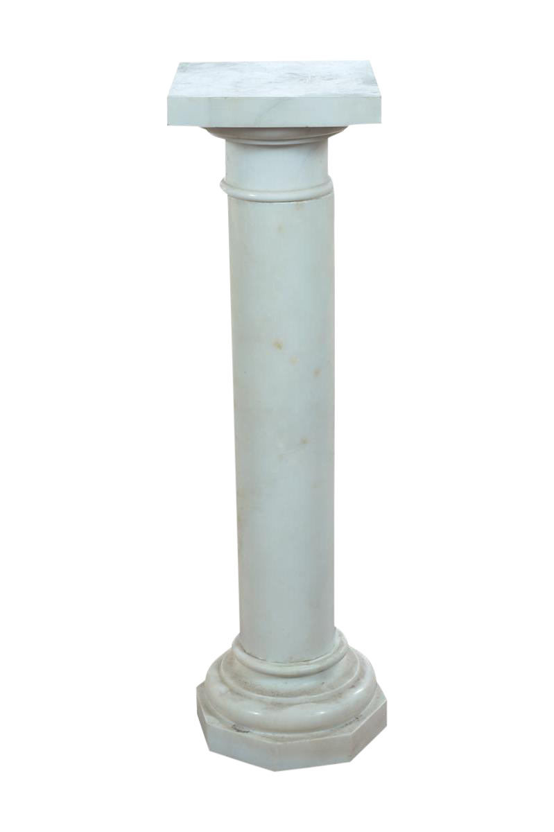Pillar drawing marble. Excellent th c italian