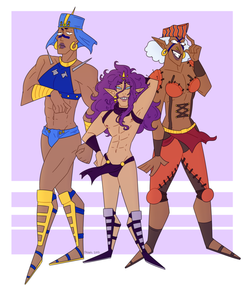 Pillar men png. The by friwil on