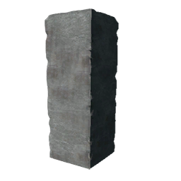 Pillar transparent grey. Brick primitive plus official