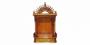 Pillar transparent temple indian. Carved wooden pooja mandir
