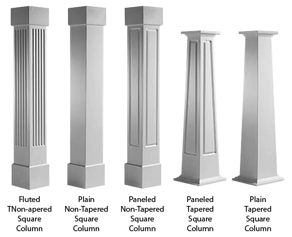 Architectural cad drawings columns. Pillars drawing template svg transparent