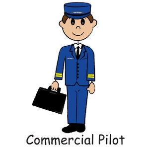 Pilot clipart. Free image airplane illustration
