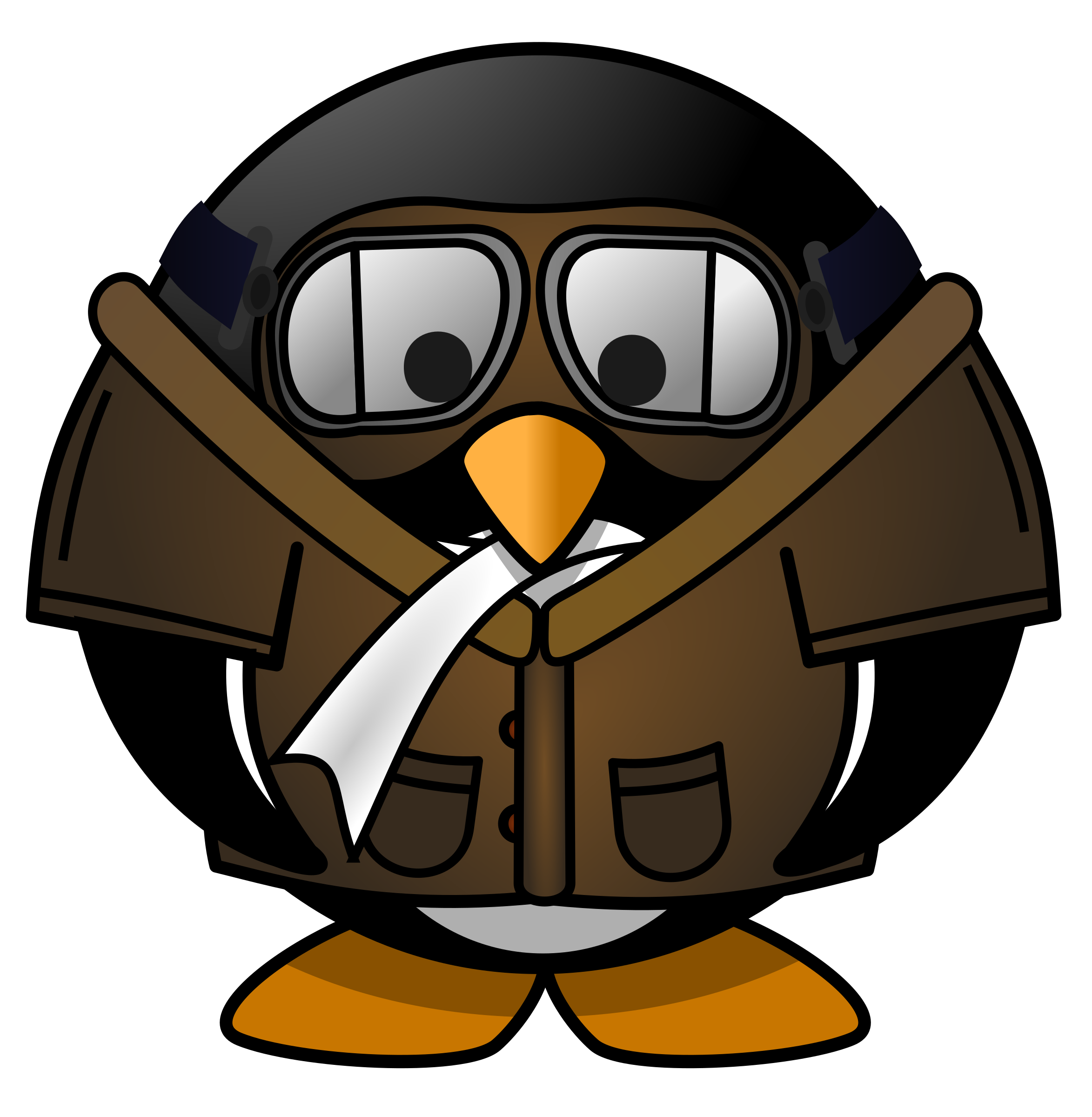 Penguin big image png. Pilot clipart png library library