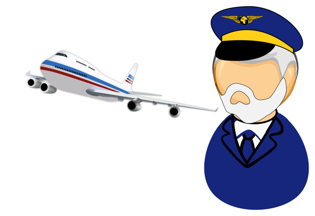 Pilot clipart. Airplane in command computer