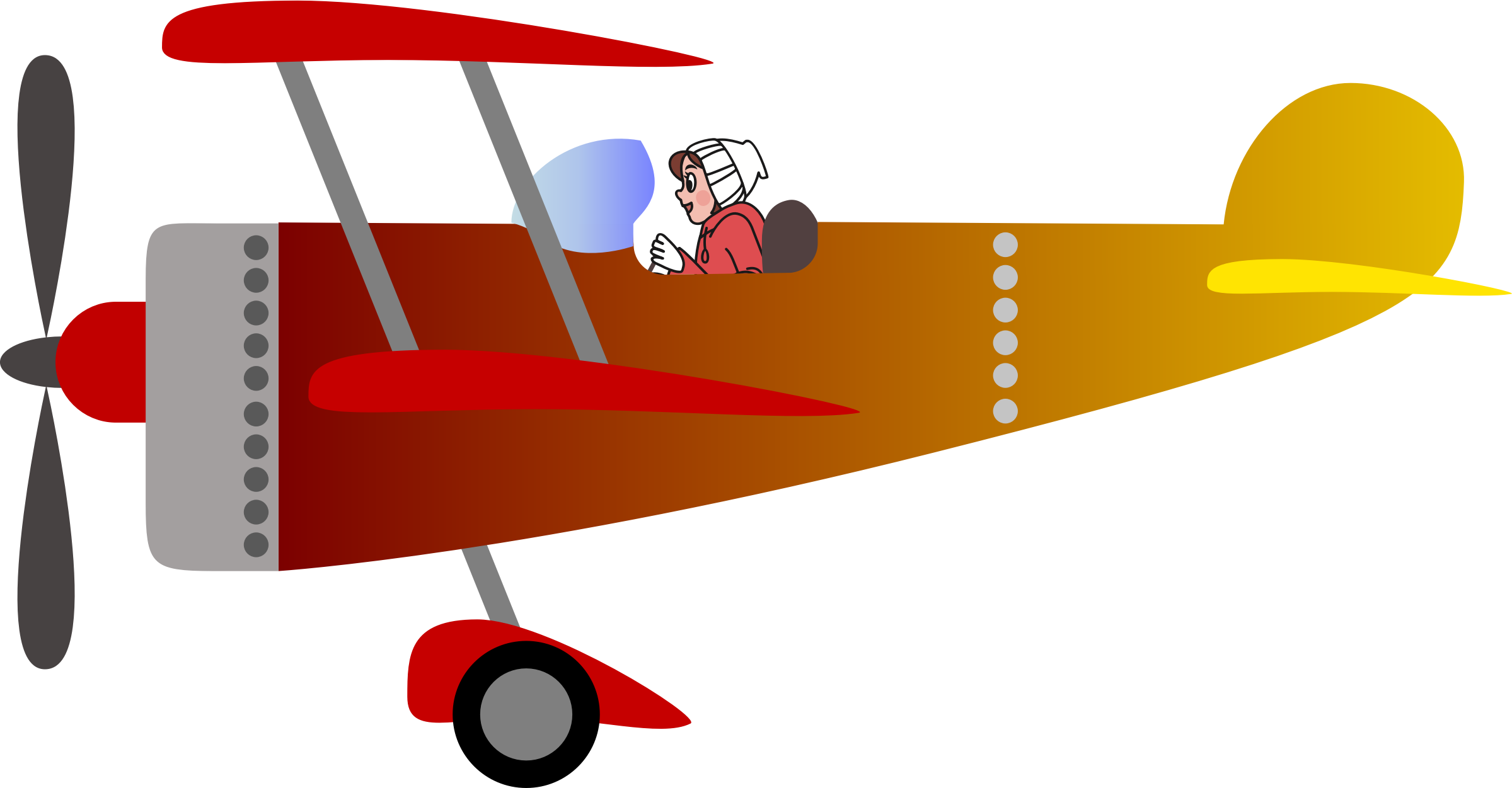 Biplane with a woman. Pilot clipart png freeuse download