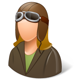 Pilot clipart female pilot. Occupations oldfashioned light icon