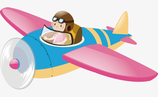 Pink wings vector material. Pilot clipart small plane vector library library