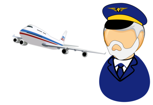 Pilot drawing airline. Airplane aircraft aviation in