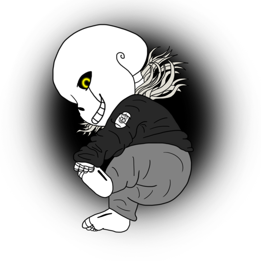 Pilot drawing baby. Gaster sans by cabbt