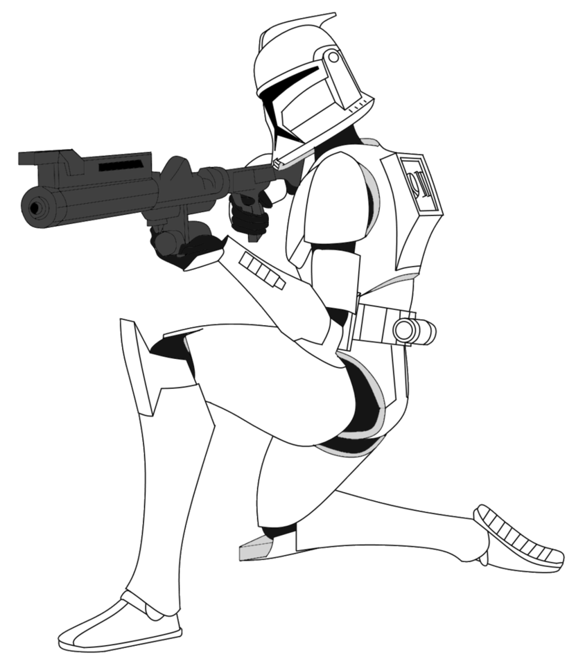 Shooting drawing clone trooper. Related image que la