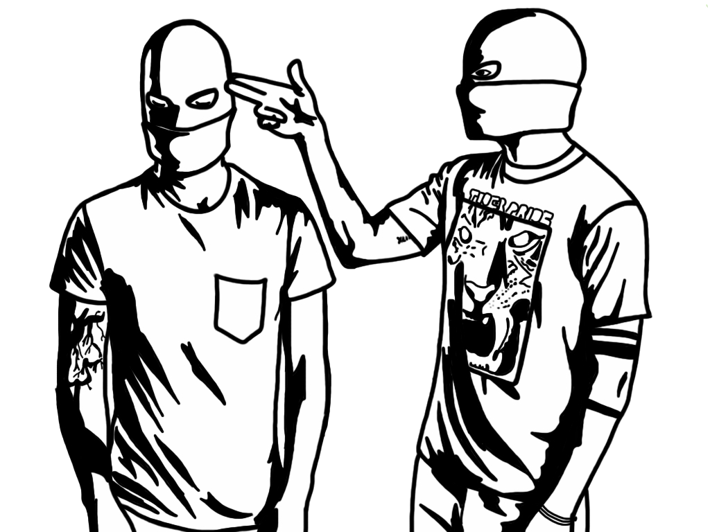 Pilot drawing coloring page. Twenty one pilots pages