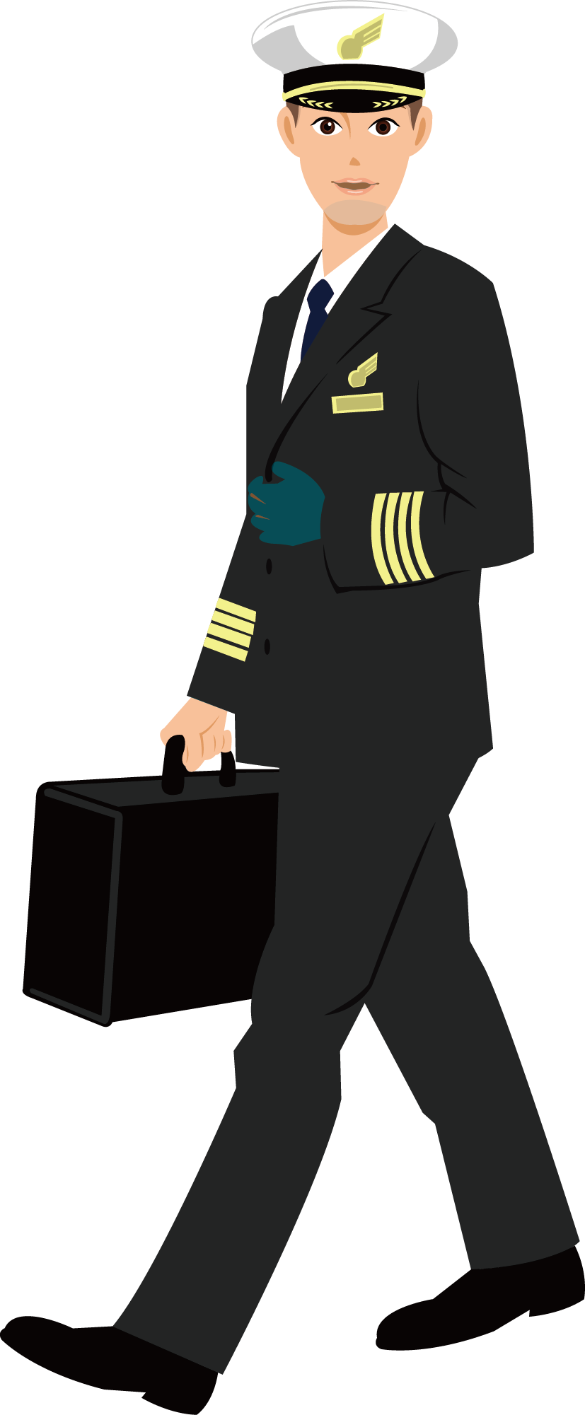 Pilot drawing flight attendant. Airplane in command