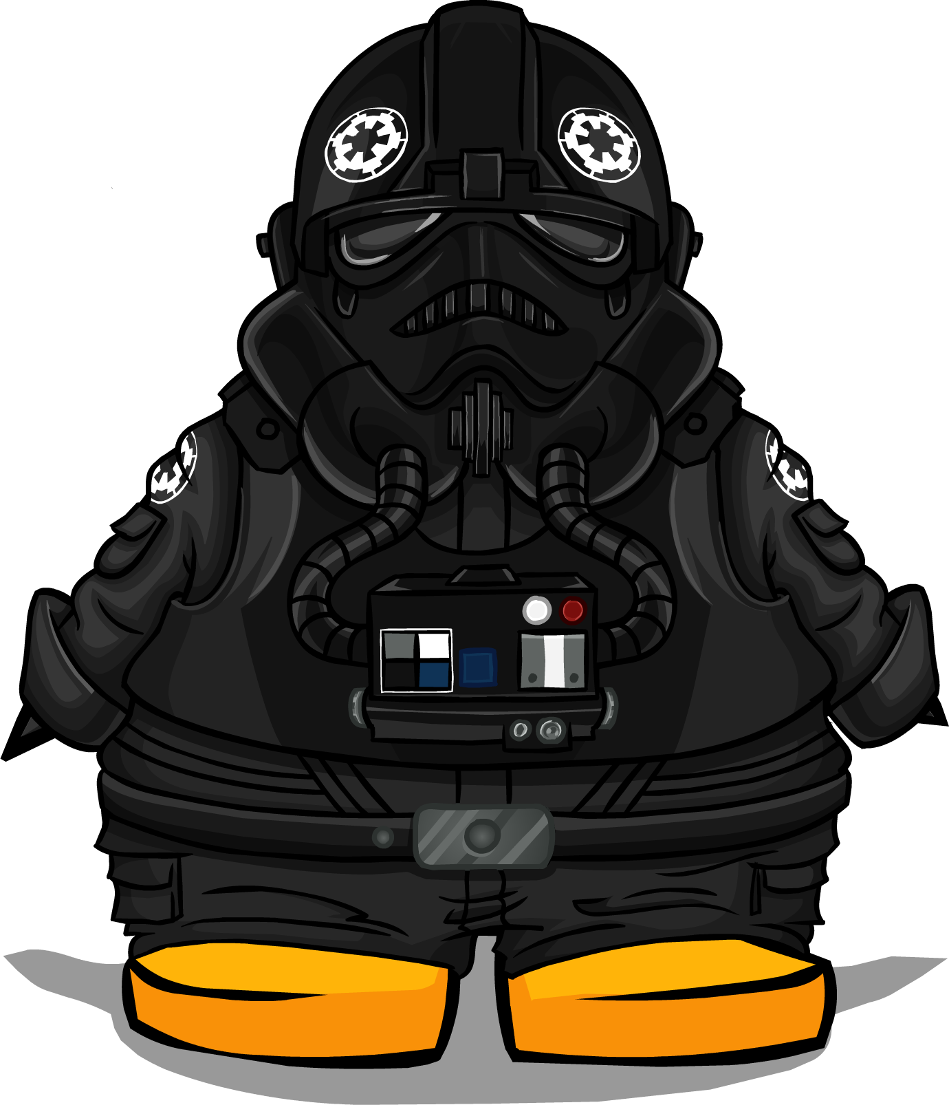 Pilot drawing sketch. Image tie fighter costume