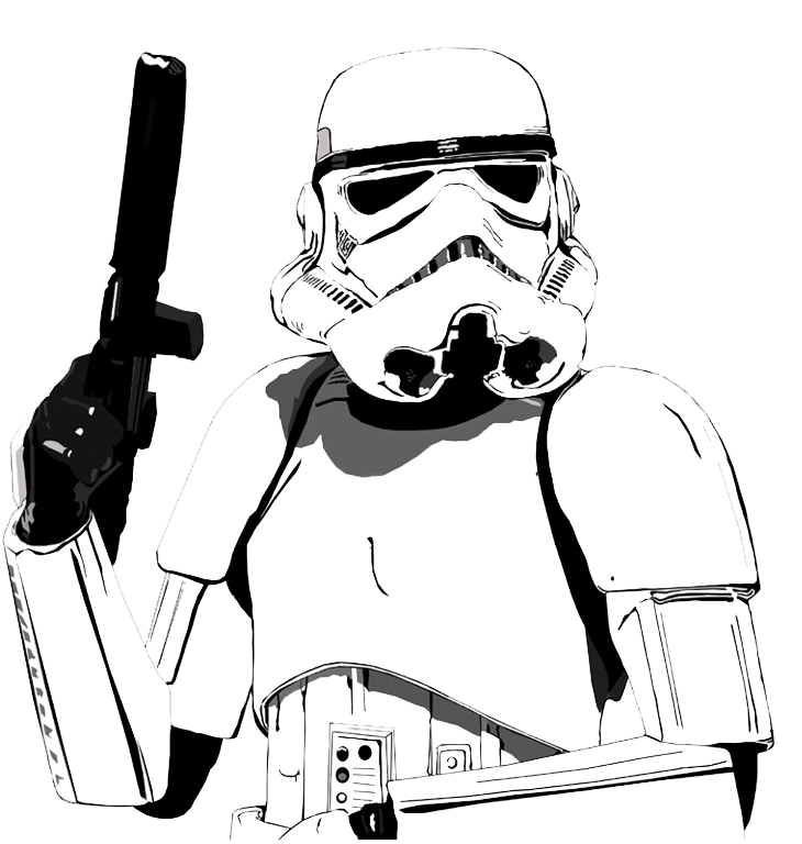 Star wars cartoon png. Shooting drawing stormtrooper picture freeuse download