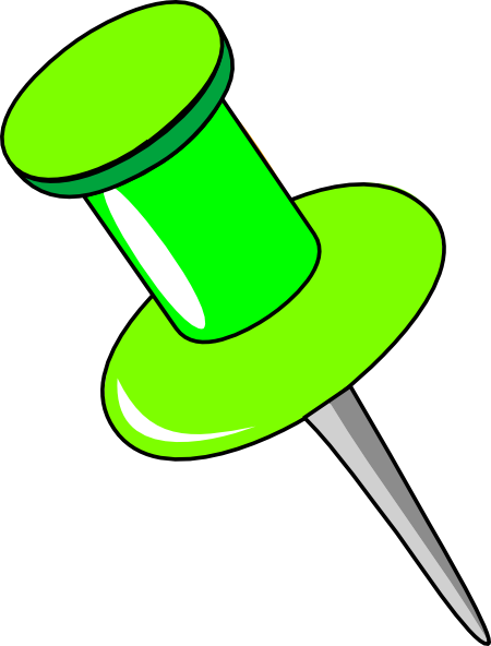 Pushpin vector green. Pin clip art at