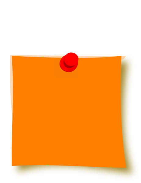 Pin clipart sticky. New orange clip art