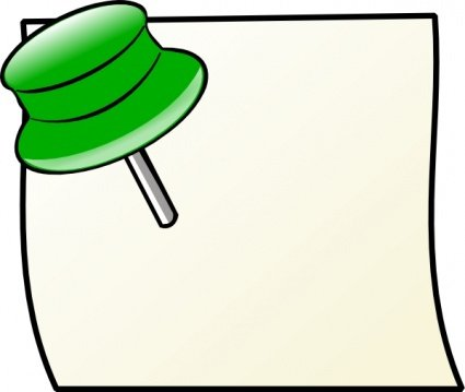 Pin clipart. Free note with and
