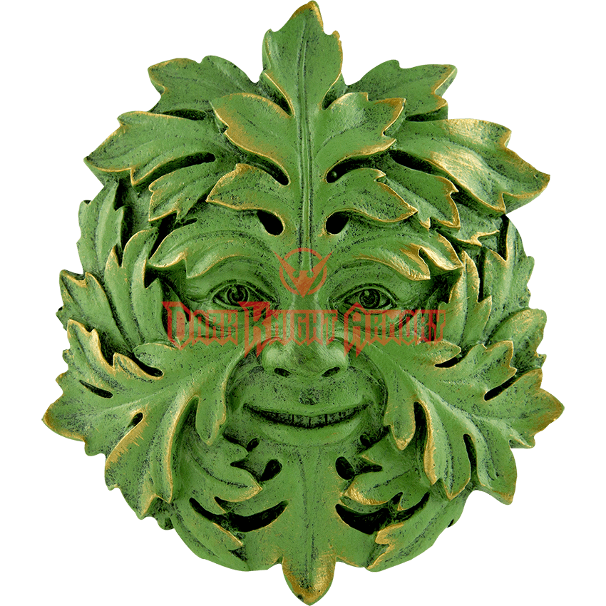Pin oak png. Greenman wall plaque tl