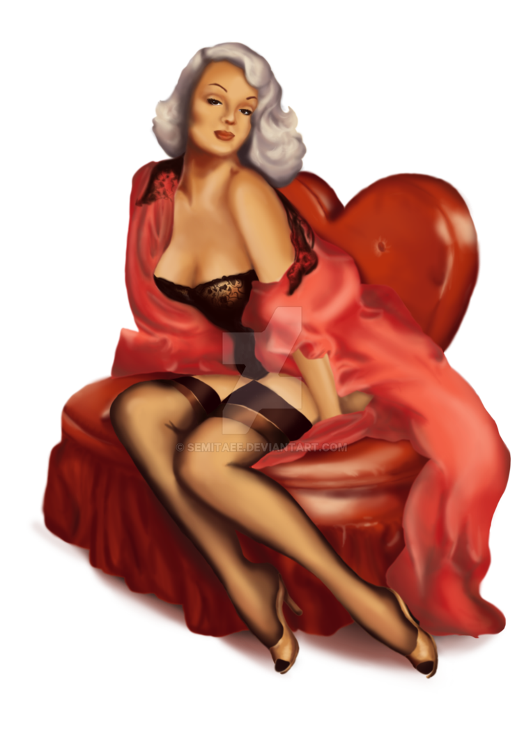 Pin up girl png. By semitaee on deviantart