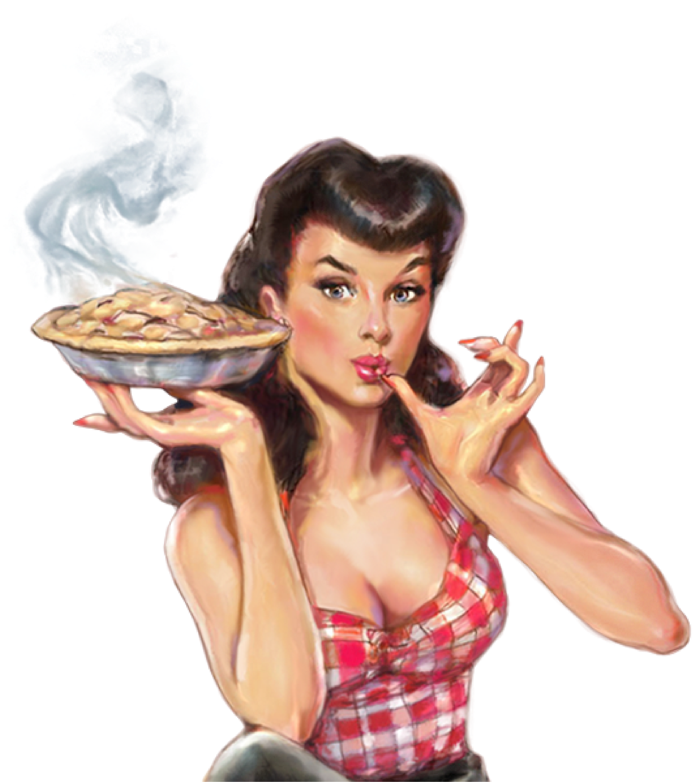Pin up girl png. Whiskey cherry pie apple