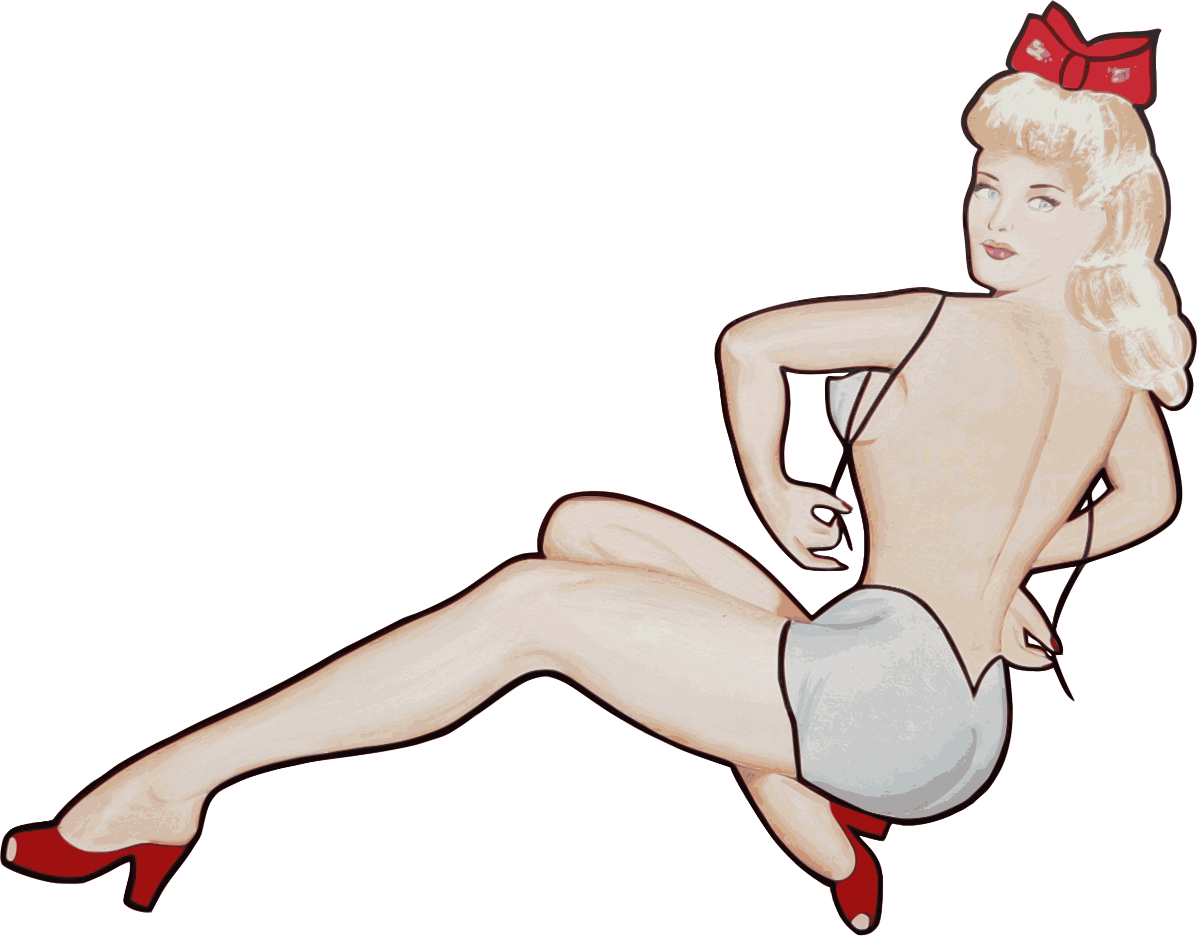 Pin up models png. Girl icons free and