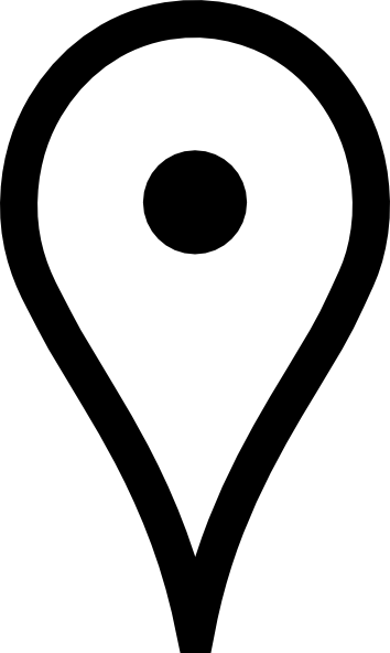 Vector pointers maps google. White map pin clip
