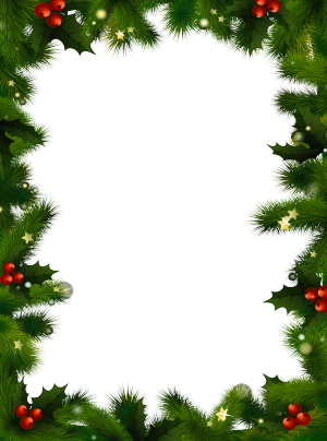 Christmas garland border transparent png. Borders photo frame with