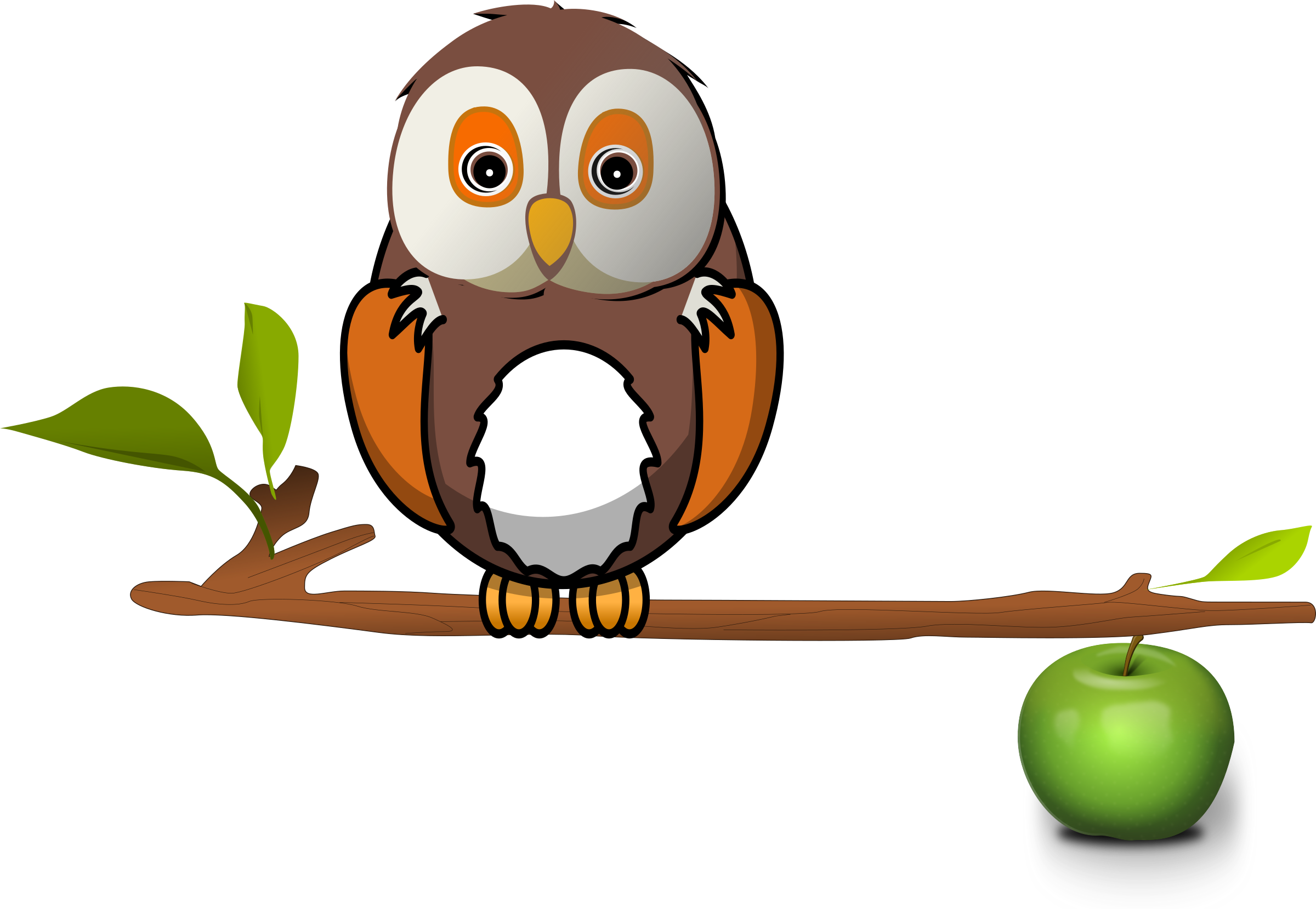 Pine branch owl png. On icons free and