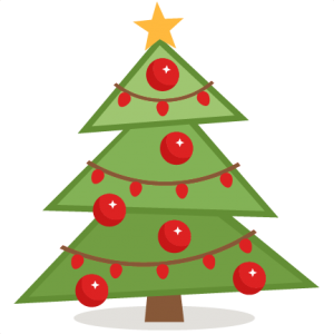 Pine clipart cute. Christmas tree svg scrapbook