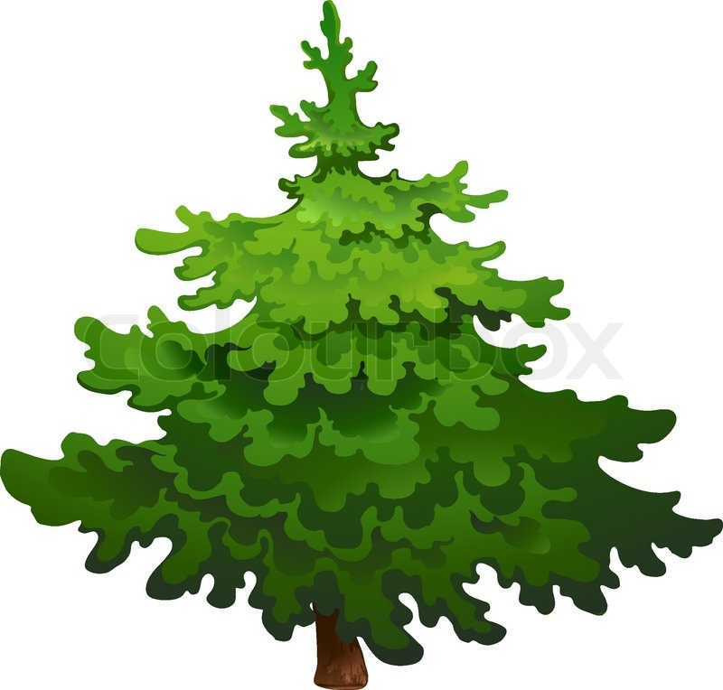 Pine clipart fine tree. Vector group pencil and