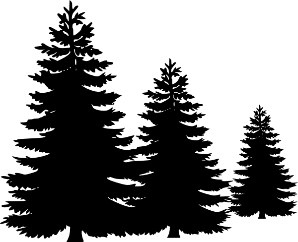 Pine clipart three. Trees clip art at
