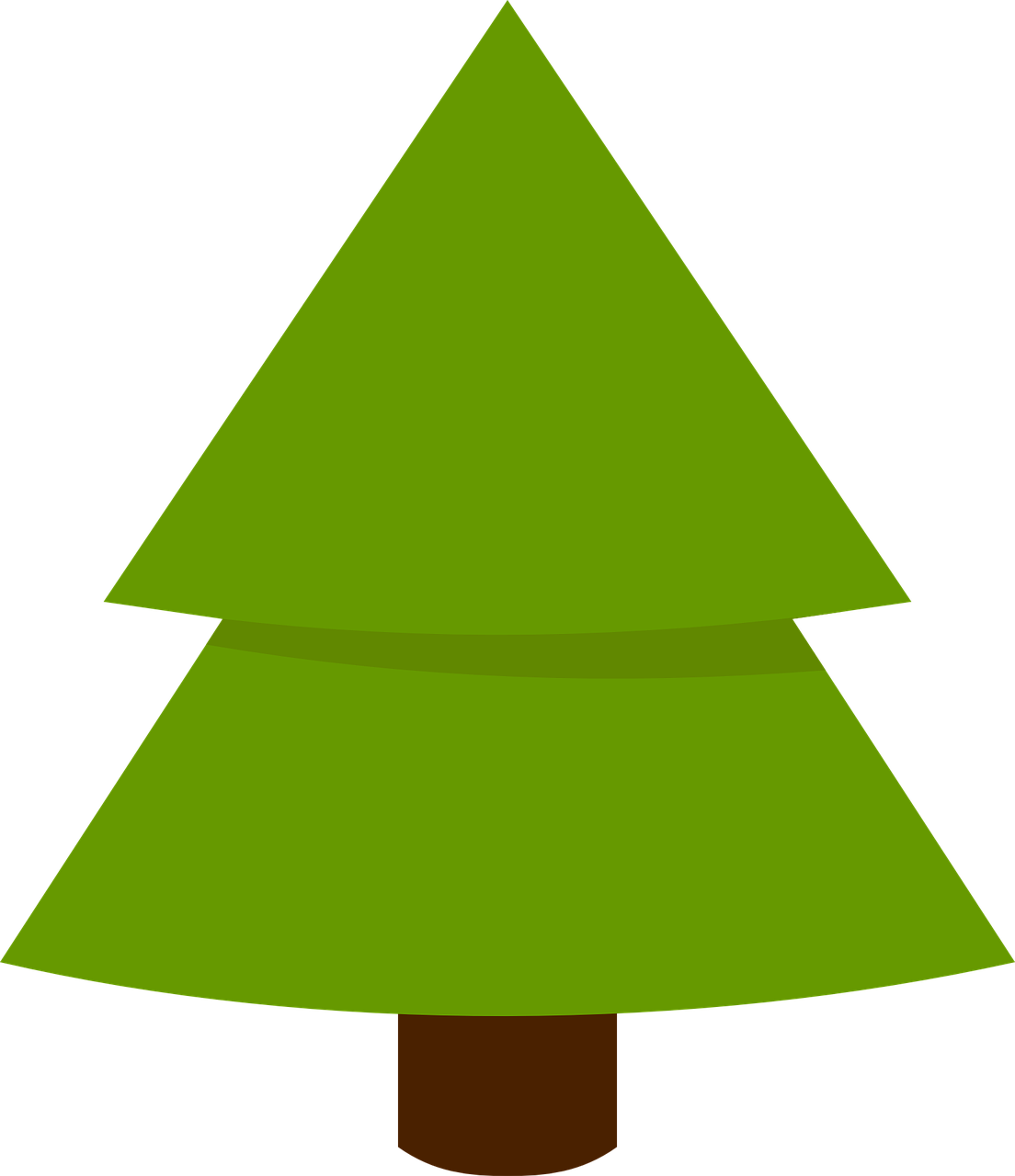 Triangle clipart tree. How to draw a