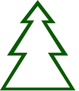 Free christmas panda images. Triangle clipart tree banner stock